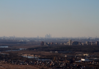Пролёт над Москвой