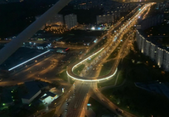 Ночной МКАД с высоты птичьего полёта