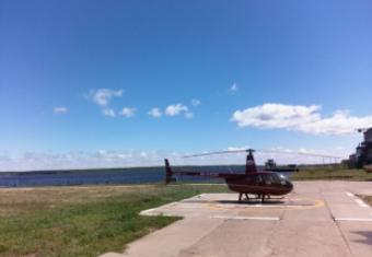 На вертолётной площадке